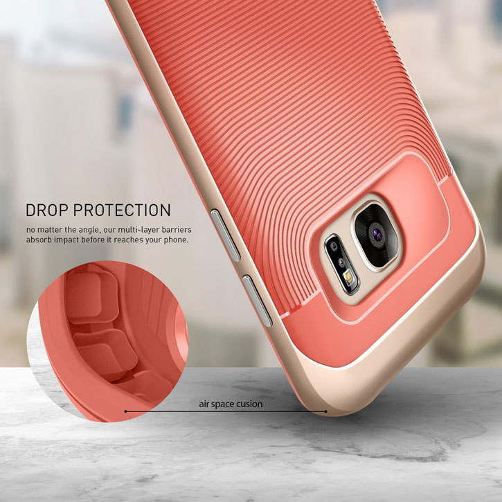 Caseology Wavelength Series Samsung Galaxy S7 Edge Case - Coral Pink
