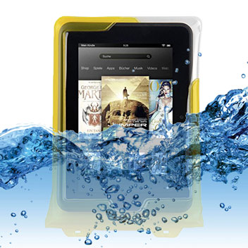 DiCAPac Universal Waterproof Case for Tablets up to 8 inches - Yellow