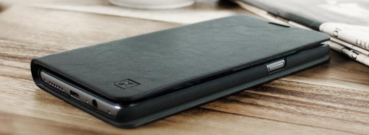 wholesale dealer 098c2 25e93 Olixar Leather-Style OnePlus 3T / 3 Wallet Stand Case - Black