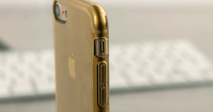 FlexiShield iPhone 7 Gel Case - Gold