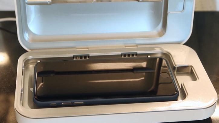 PhoneSoap 2.0 UV Phone Sanitizer & Charger - White