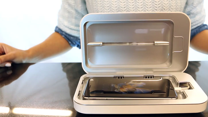 PhoneSoap 2.0 UV Phone Sanitizer & Charger - White