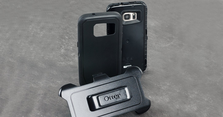 OtterBox Defender Series S7 Edge Case - Black