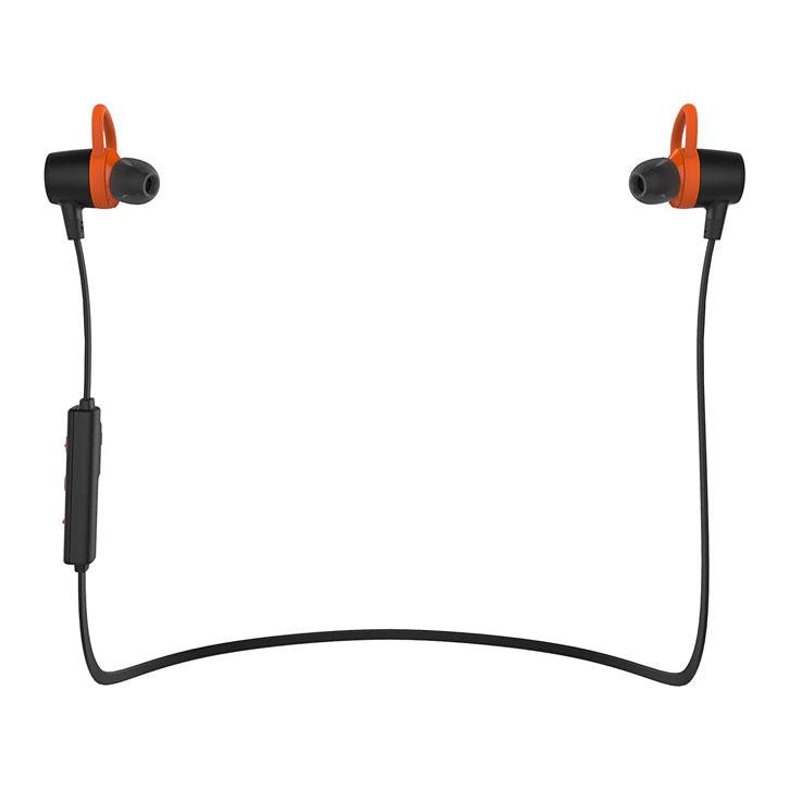 Motoola VerveLife Loop + Wireless Bluetooth Earphones - Black / Orange