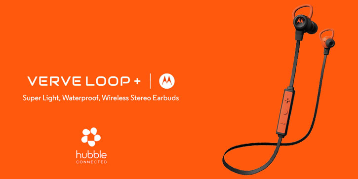 Motoola VerveLife Loop + Wireless Bluetooth Earphones - Black / Orange