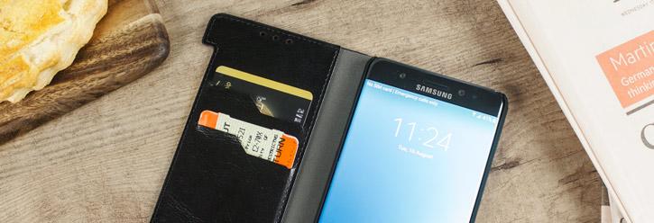 Olixar Leather-Style Samsung Galaxy Note 7 Wallet Case - Black
