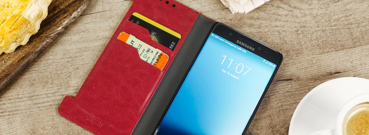 Olixar Leather-Style Samsung Galaxy Note 7 Wallet Case - Red