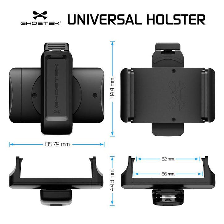 Ghostek Universal Smartphone Belt Clip Holster - Black