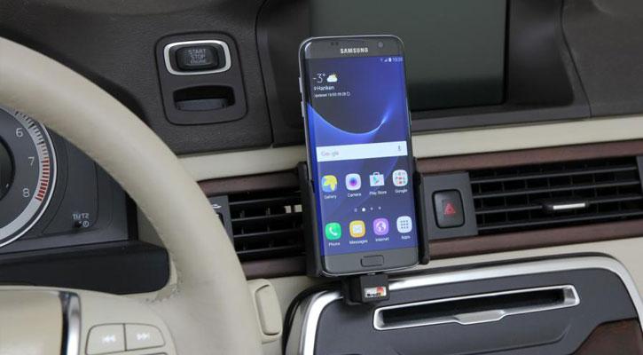 Brodit Samsung Galaxy S7 Edge Active Holder With - Swivel & Cig-Plug
