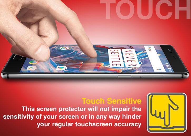 Olixar Full Cover OnePlus 3 Glass Screen Protector - Black