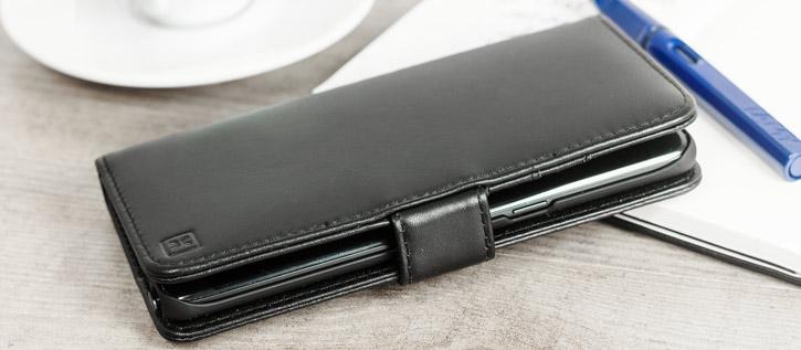 Olixar Genuine Leather Samsung Galaxy Note 7 Wallet Case - Black