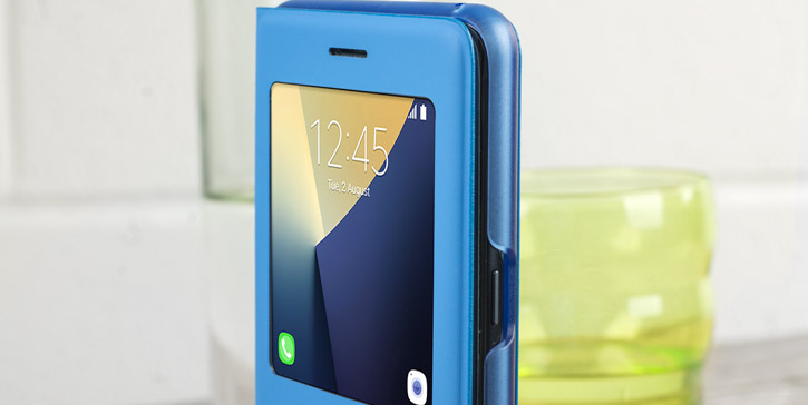Official Samsung S-View Galaxy Note 7 Stand Cover Case - Blue