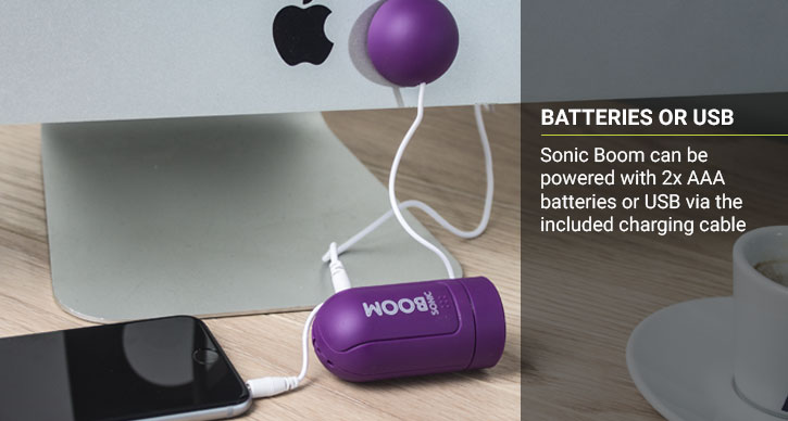 Pocket Boom Portable Vibration Speaker - Purple