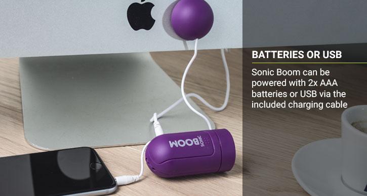 Enceinte à vibration Sonic Boom – Violette