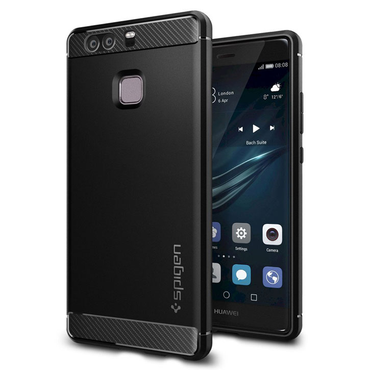 Spigen Rugged Armor Huawei P9 Tough Case - Black