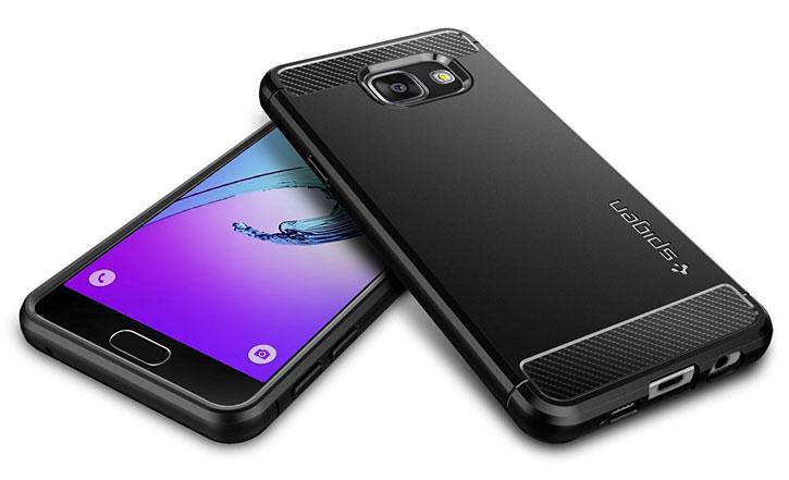 Spigen Rugged Armor Samsung Galaxy A3 2016 Tough Case - Black