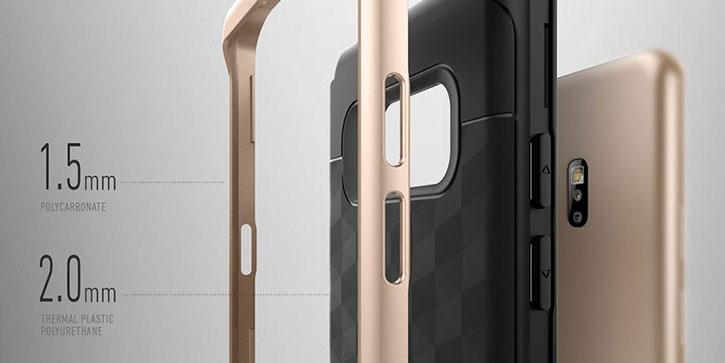 Caseology Parallax Series Samsung Galaxy Note 7 Case - Black / Gold