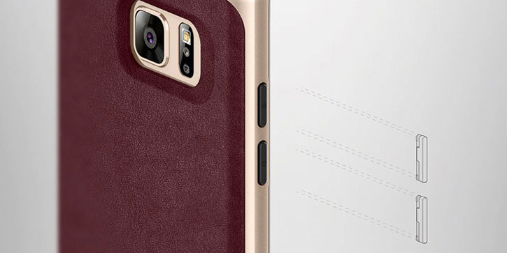 Caseology Envoy Series Samsung Galaxy Note 7 Case - Leather Cherry Oak