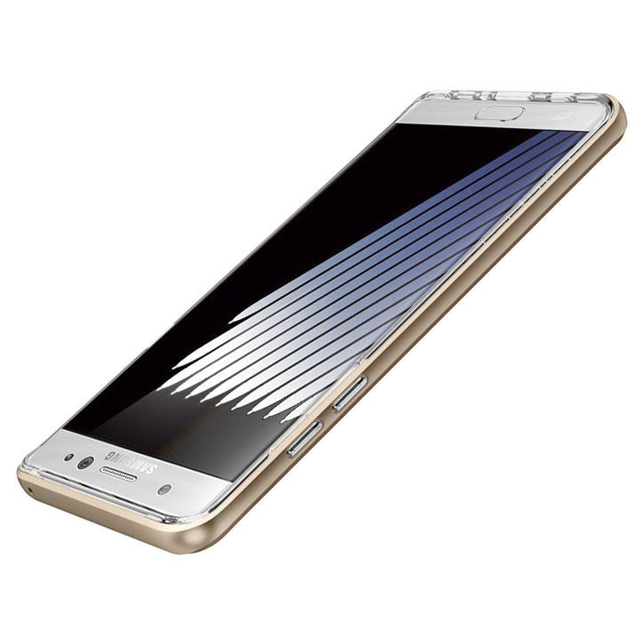 Spigen Crystal Hybrid Samsung Galaxy Note 7 Kickstand Case - Gold