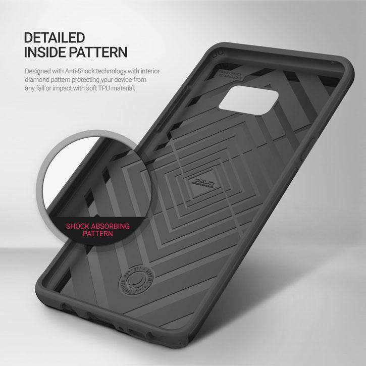 Obliq Slim Meta Samsung Galaxy Note 7 Case - Titanium Black
