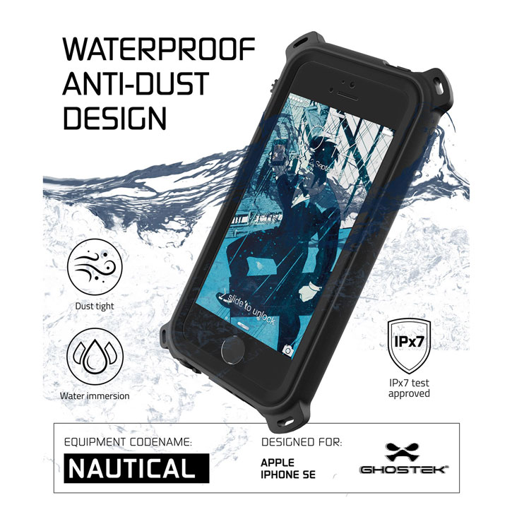 Ghostek Nautical Series iPhone SE Waterproof Case - Black