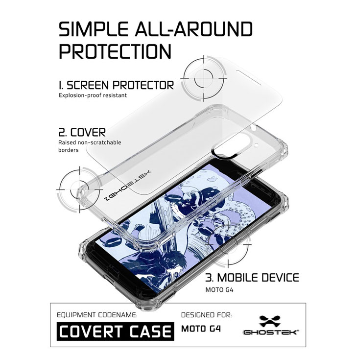 Ghostek Covert Moto G4 Bumper Case - Clear