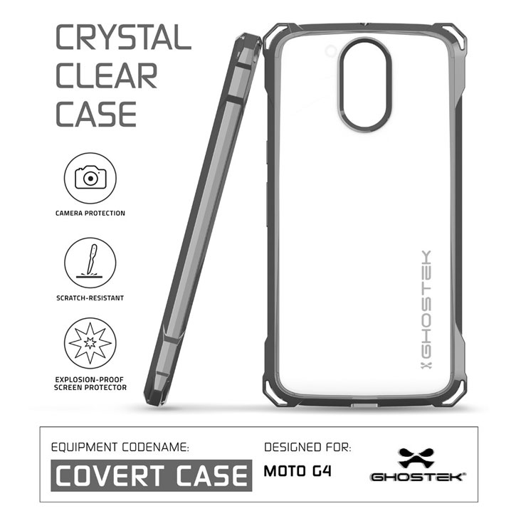 Ghostek Covert Moto G4 Plus Bumper Case - Clear / Black