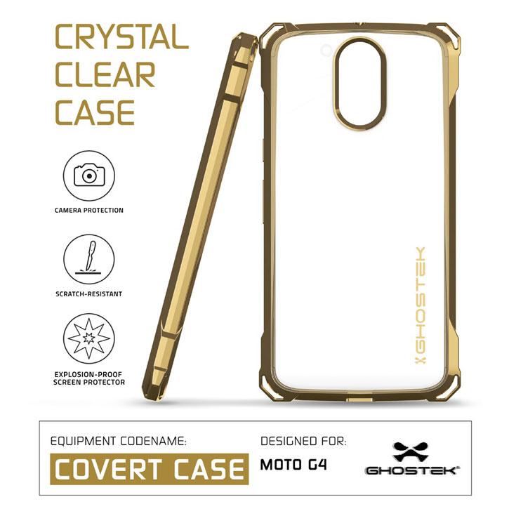 Ghostek Covert Moto G4 Bumper Case - Clear / Gold