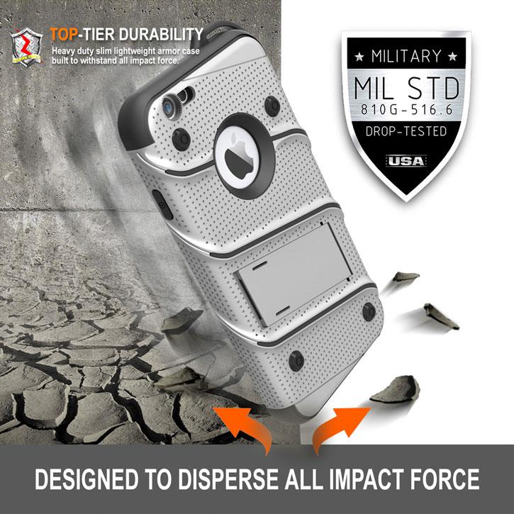 san francisco 6112b 0fb1a Zizo Bolt Series iPhone 6S / 6 Tough Case & Belt Clip - Steel