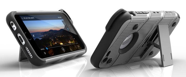 Zizo Bolt Series iPhone 6S / 6 Tough Case & Belt Clip - Steel