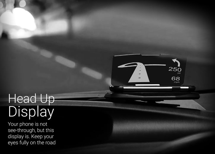 Head Up Display (HUD) In-Car Mount Navigation System