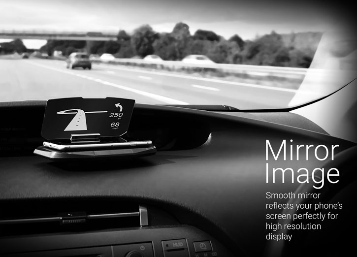 olixar head up display hud in car mount navigation system. Black Bedroom Furniture Sets. Home Design Ideas