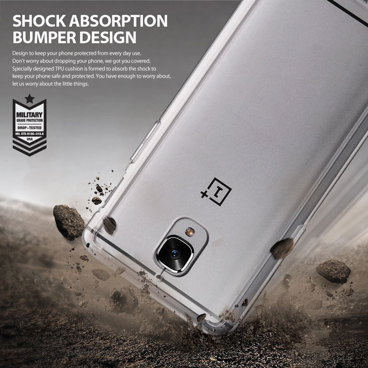 Rearth Ringke Fusion OnePlus 3 Case - Crystal View