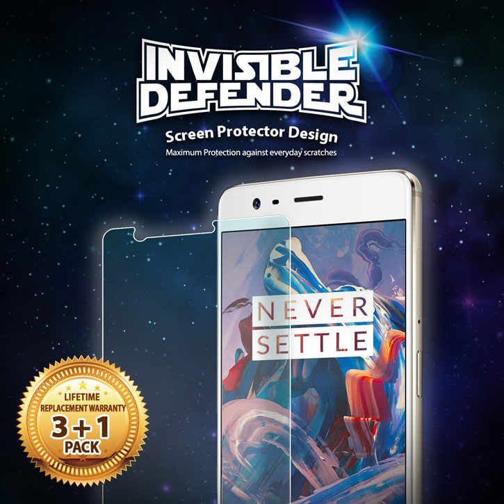 Rearth Invisible Defender OnePlus 3T / 3 Skärmskydd - Fyrapack