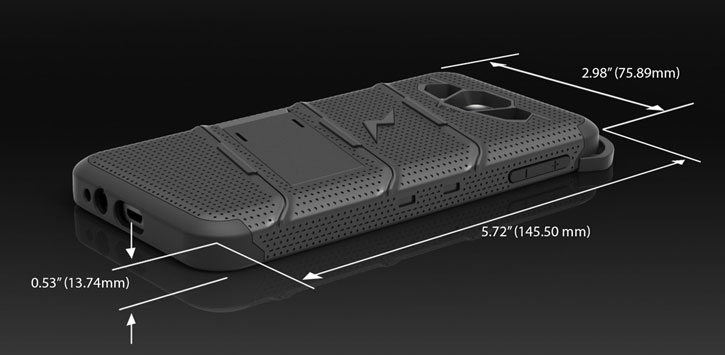 Zizo Bolt Series Samsung Galaxy J1 2016 Tough Case & Belt Clip - Black