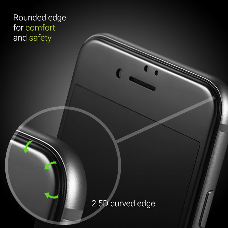 Olixar iPhone 7 Edge to Edge Tempered Glass Screen Protector - Black