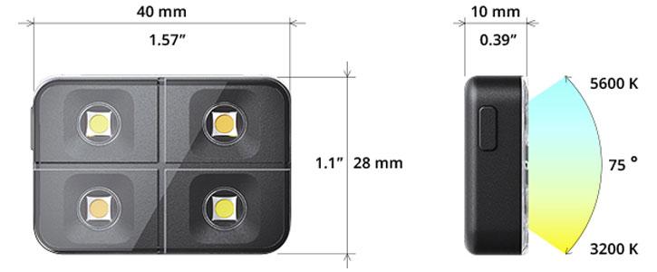 Flash LED inalámbrico para iOS & Android iblazr2