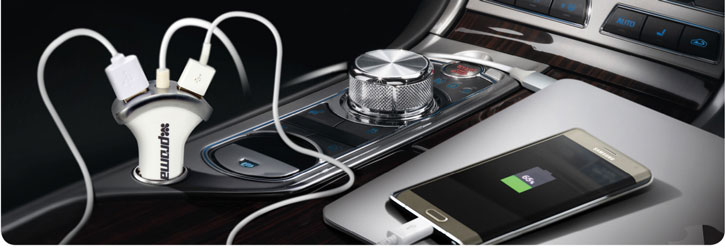 Promate Booster-C USB-C and Dual USB Car Charger - Champagne