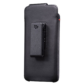 Official Blackberry DTEK 50 Leather Swivel Holster Case - Black