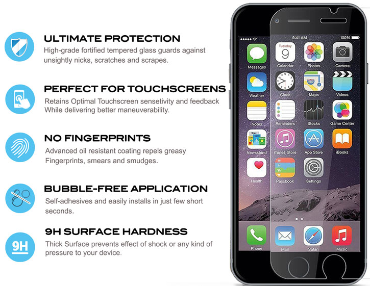 Zizo Lightning Shield iPhone 7 Tempered Glass Screen Protector
