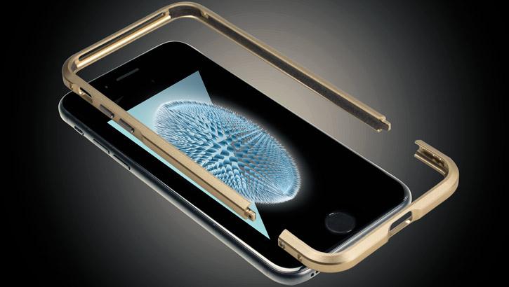 Luphie Blade Sword iPhone 7 Aluminium Bumper Case - Champagne Gold