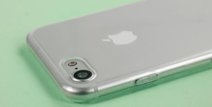 Coque iPhone 8 / 7 Olixar Ultra Fine - Transparente vue sur appareil lphoto