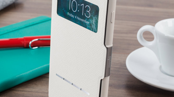 Moshi SenseCover iPhone 7 Plus Smart Case - Stone White