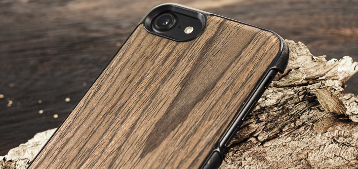 Mozo iPhone 7 Genuine Wood Back Cover - Black Walnut