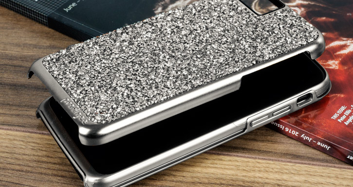 Prodigee Fancee iPhone 7 Glitter Case - Silver / Black