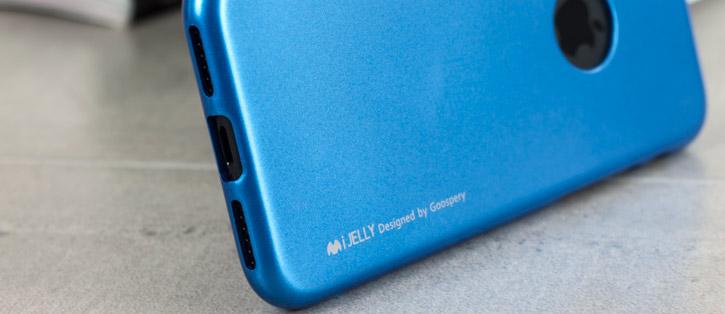 Coque iPhone 8 / 7 Mercury iJelly Gel - Bleue vue sur ports