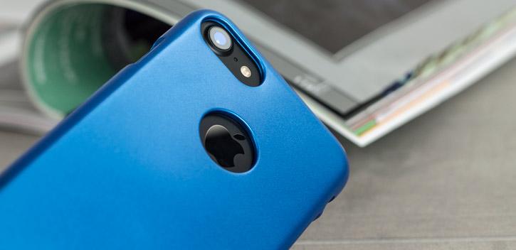 Coque iPhone 8 / 7 Mercury iJelly Gel - Bleue vue sur appareil photo