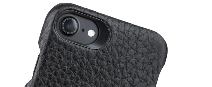 Vaja Grip iPhone 7 Premium Leather Case - Black / Rosso