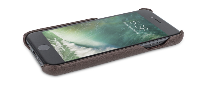 Vaja Grip iPhone 7 Premium Leather Case - Brown / Birch