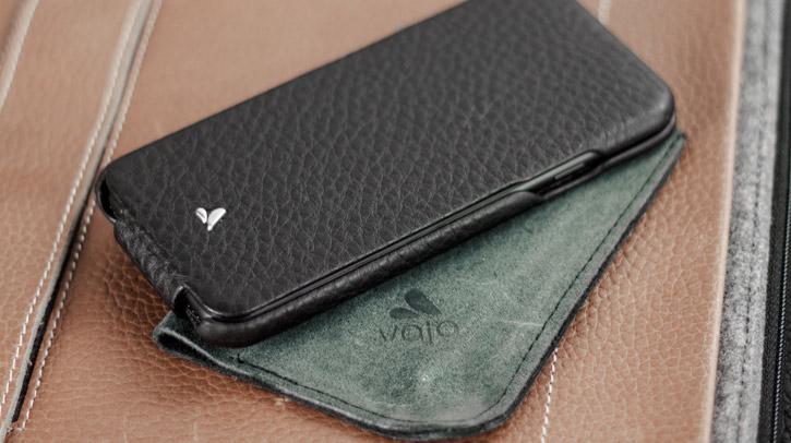 Funda iPhone 7 Vaja Ivo Top Premium de Cuero con Tapa - Negra